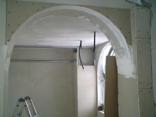 Arco in cartongesso arco creato con cartongesso da for Archi interni casa ristrutturato