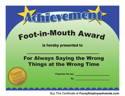 employee awards funny