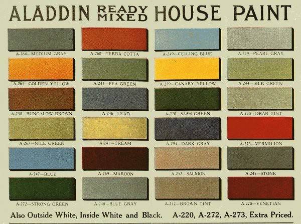 Vintage House Paint Colors Historic Color Palette Flickr