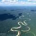 Rio Tamaya meanders through the Amazon lowlands, Ucayali, Peru
