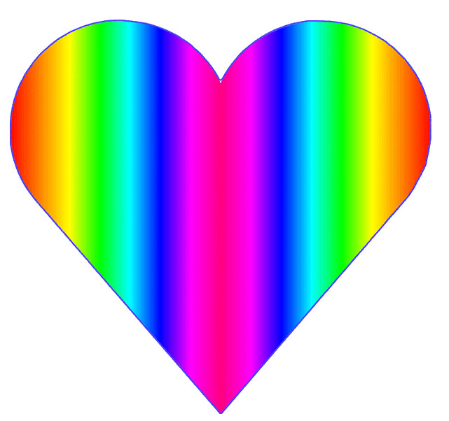 rainbow heart 2, 10cm | This clipart drawing has been ...