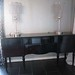 4156 BLACK LACQUER BUFFET TABLE
