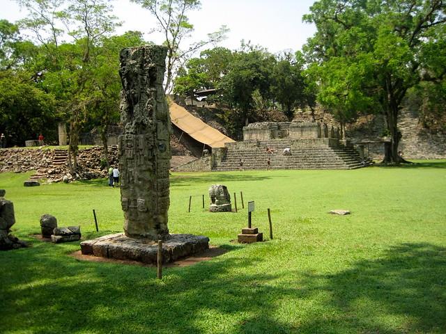 mayan-ruins-grand-plaza-copan-honduras