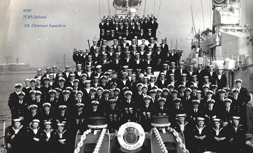 Criw Quot H M S Jutland Quot Crew 1959 Hms Jutland D62