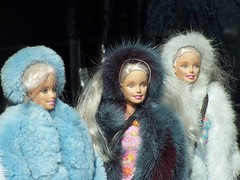 those weird fur coat barbies | by romana klee