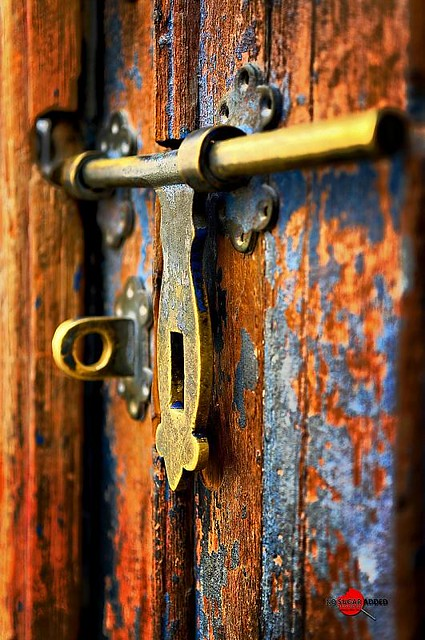 Open Doors This Lock Belongs To One Of The Old Houses
