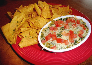 Spinach and artichoke dip with tortilla chips at TGI Friday's | by Scorpions and Centaurs