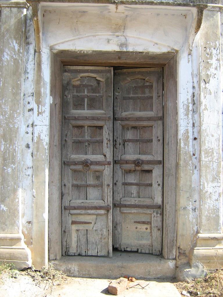 Doors Typical Wooden Door Of A House In A Village In