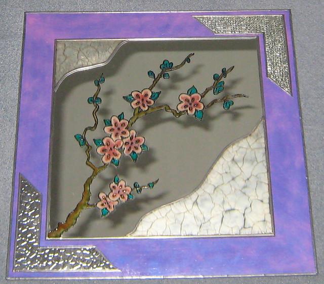 Espejo morado el espejo es de ikea y est decorado con for Espejo adhesivo ikea