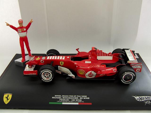Hot Wheels Michael Schumacher Monza Retirement 2006 Ferrar ...