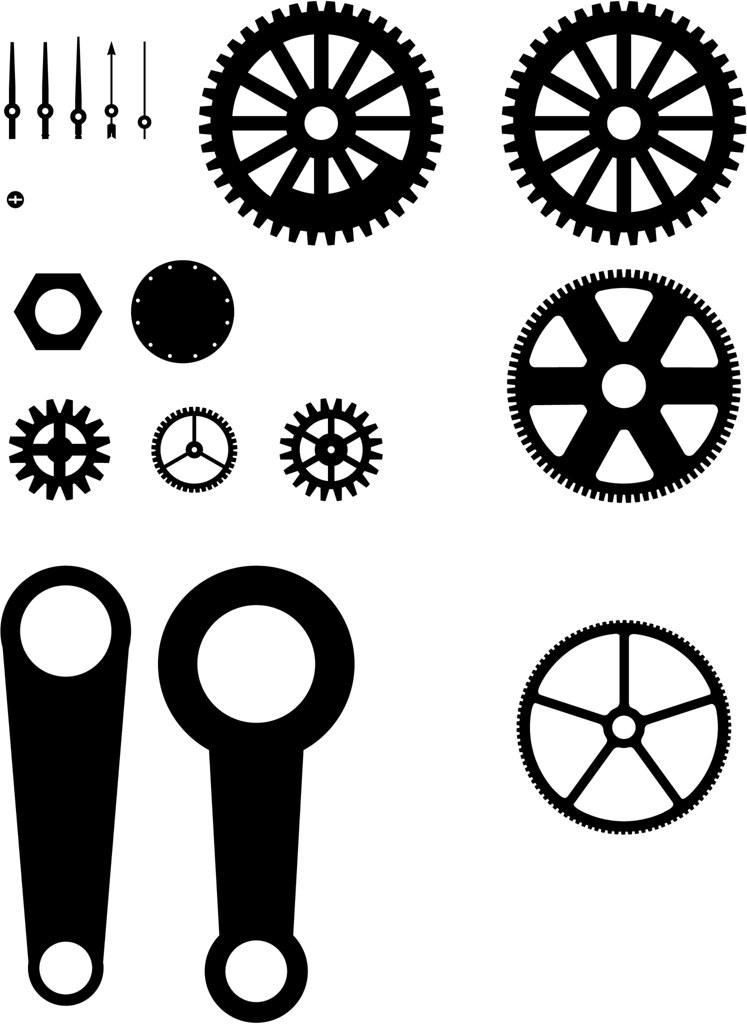 Steampunk Gears Needles Rods