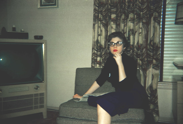 1950 S Living Room W Big Tv That Tv Worked Fine Until It