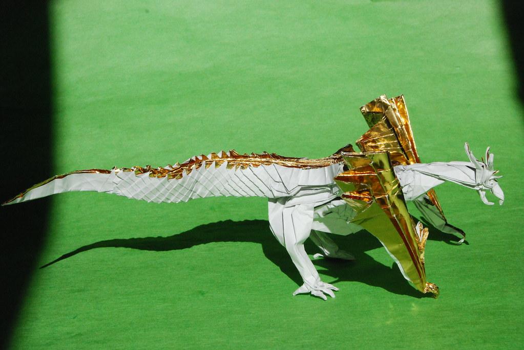 complex origami dragon instructions