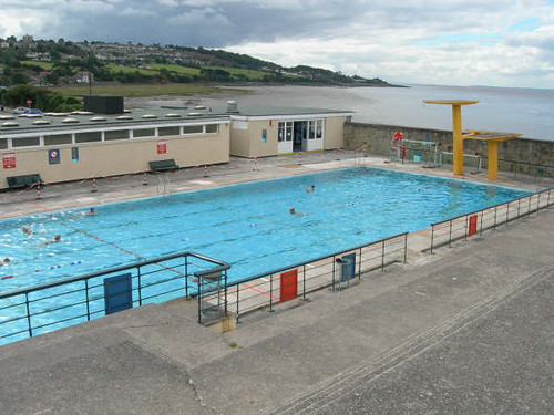 Portishead open air pool the bristol channel photo - Open air swimming pool portishead ...