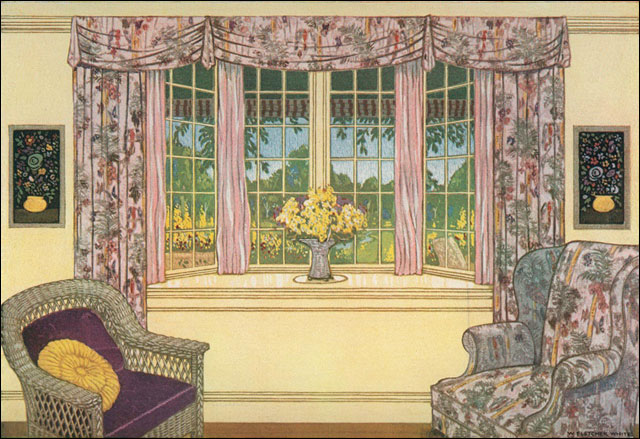 1920s bay window darn i have no idea where this image for American window design