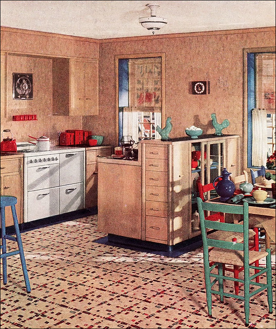 Vintage Kitchen Photography: 1936 Armstrong Fiesta Kitchen