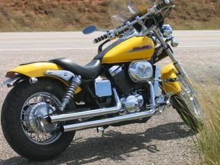 2002 yellow honda shadow spirit 750 by snoangel327 flickr. Black Bedroom Furniture Sets. Home Design Ideas