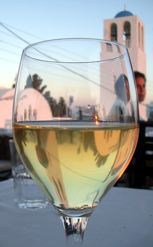 sunset in local-wine glass