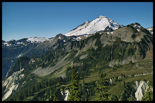 Mount baker from artist point next to the twisties the for Chair 6 mt baker