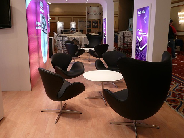 ... Swan Chair Black, Egg Chair Black Leather, Swan Coffe Table White    Furniture Hire