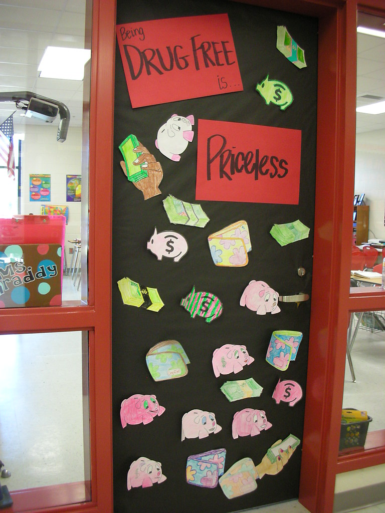 Door decorations for red ribbon week being drug free is pr flickr vtopaller Choice Image