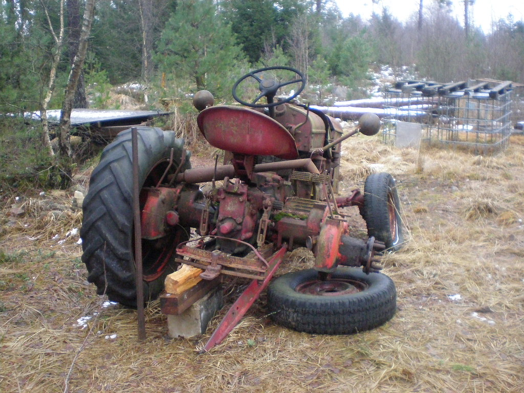 Tractor Broke Down : Tractor i like the old broken down tractors peggy w