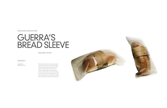 GUERRA: Bread Package | The bread sleeve was a simple ...