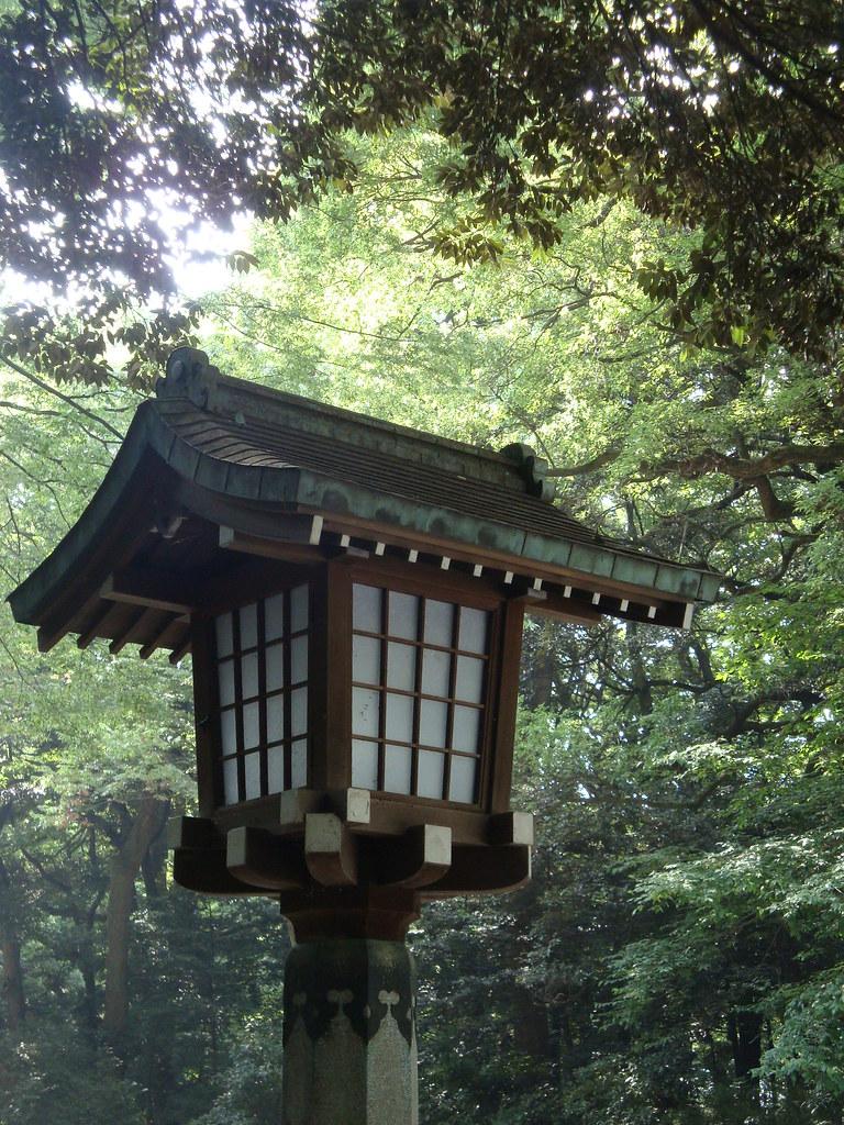 Japanese wooden lantern irishtravel flickr for Wooden garden lanterns