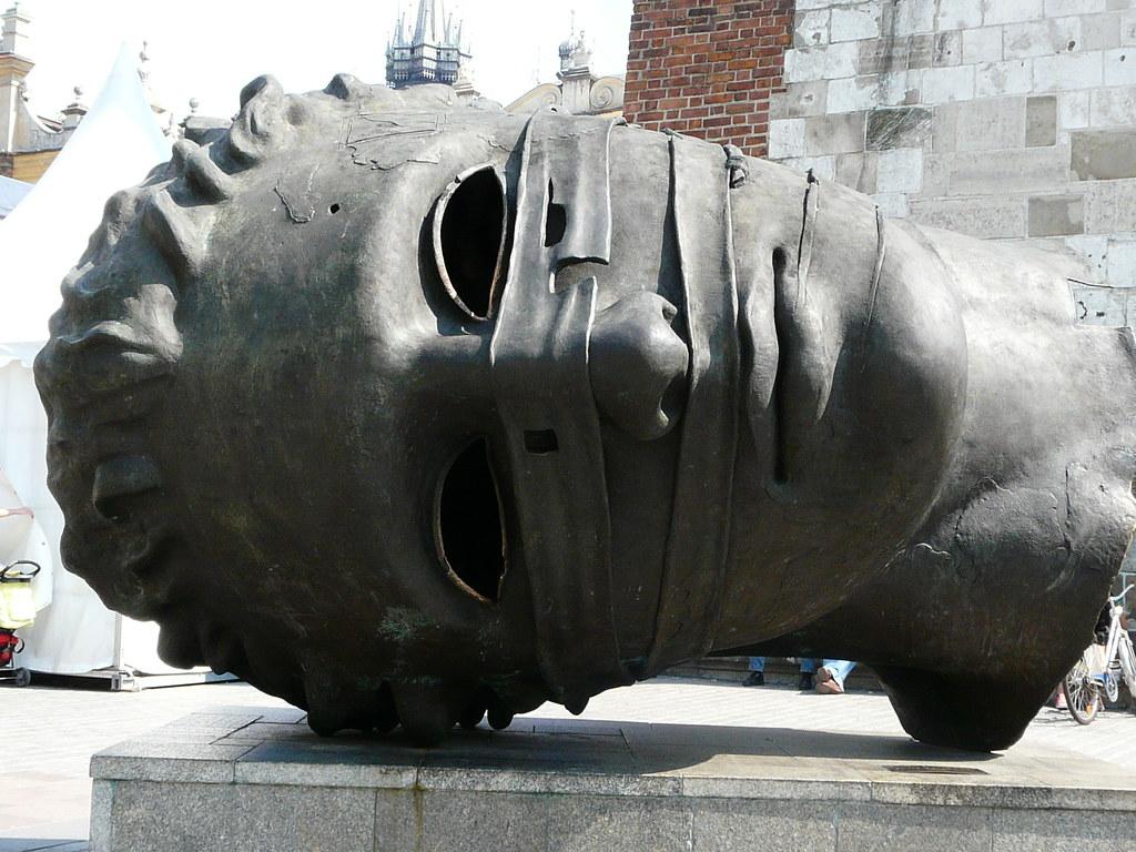 Krakow Sculpture This Is A Huge Sculptural Head Of A