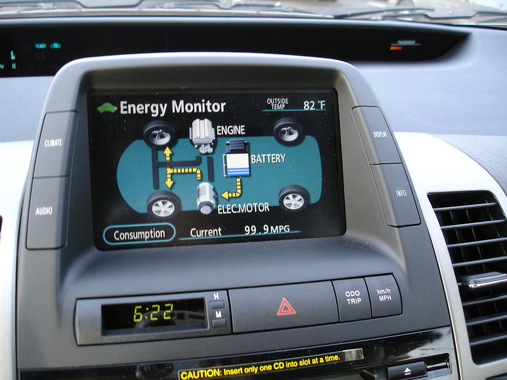 New Toyota Prius >> Toyota Prius dashboard | This dashboard screen indicates whe… | Flickr