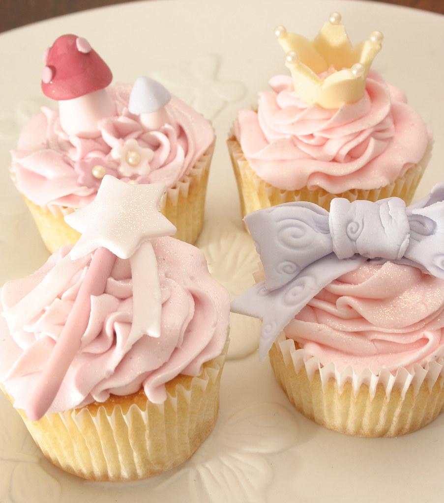 fairy princess cupcakes vanilla cupcakes covered in