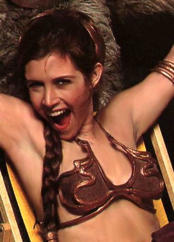 You mean? carrie fisher princess leia slave
