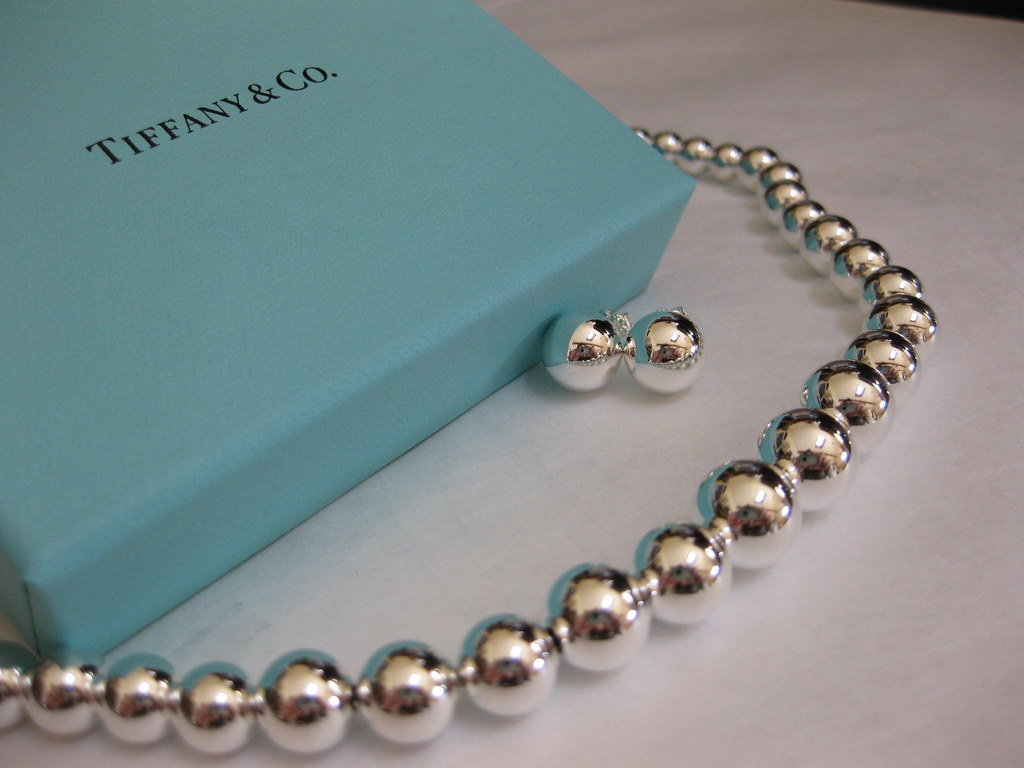 Tiffany beads necklace earrings matching sets for mom for New mom jewelry tiffany