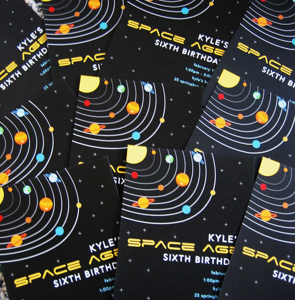 Space Party Invitations Space Birthday Party Supplies – Space Party Invitations