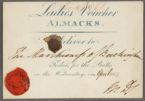 Voucher to Almack's | by The Huntington Library