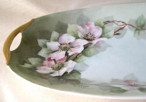 Hand Painted Porcelain Mark Flower