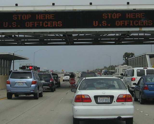San Clemente Border Patrol Checkpoint 30 Miles North Of Tijuana Mexico 2 By
