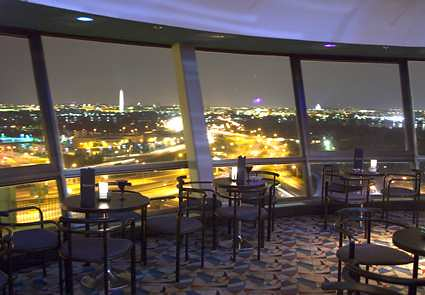 Doubletree Crystal City Skydome Lounge At Night At The