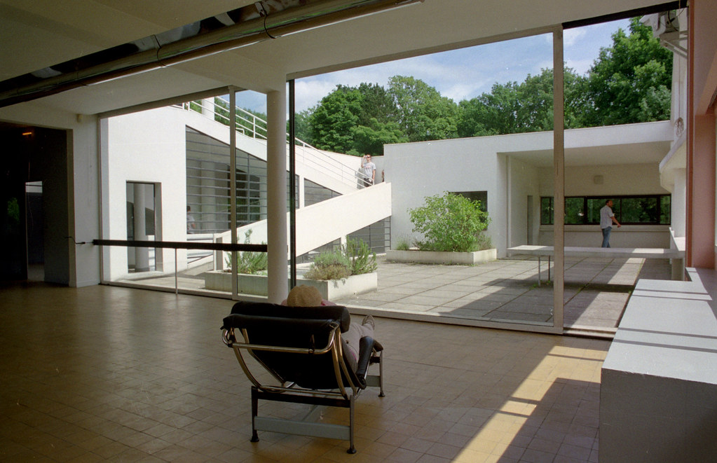 Villa Savoye 13 Living Room Looking Out To Terrace Flickr