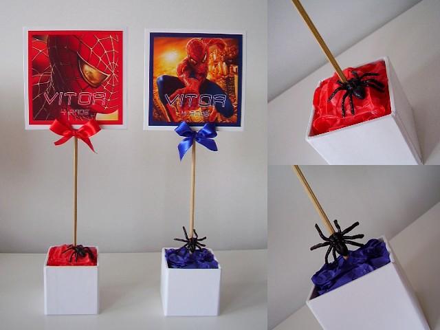 VITOR enfeites de mesa Plaquinhas no tema do Homem Aranh u2026 Flickr -> Enfeites De Mesa Do Homem Aranha