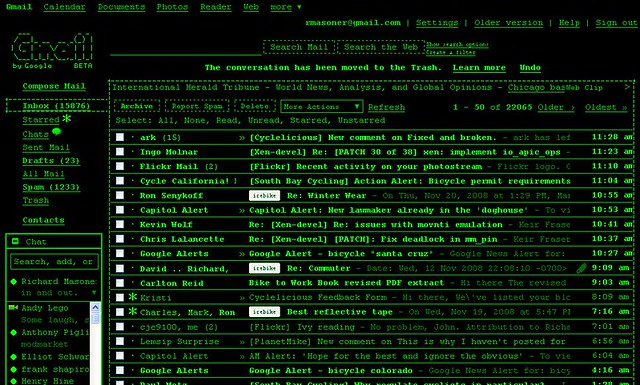 Green Screen Gmail Wow That Quot Terminal Theme Quot Is Hard On