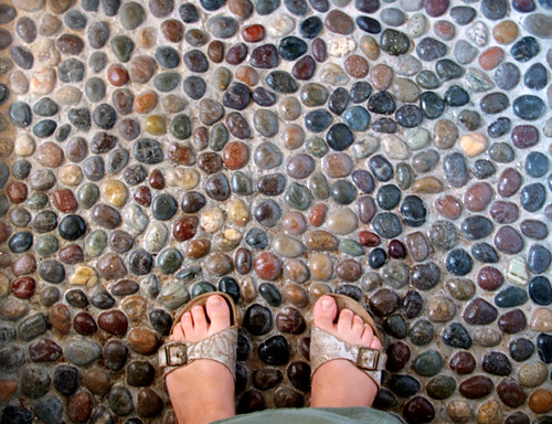 Our Pebble Shower Floor We Get A Nice Foot Massage Every