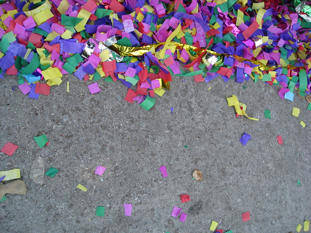 Confetti On The Street By Sherrie Thai Of