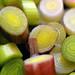 green garlic close-up