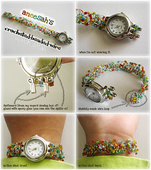 Crocheted Wire Watch Strap | by Aneesah