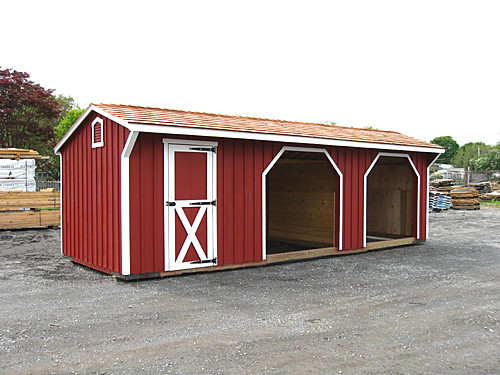 Run In Shed For Horses 10 X28 Run In Shed With Storage