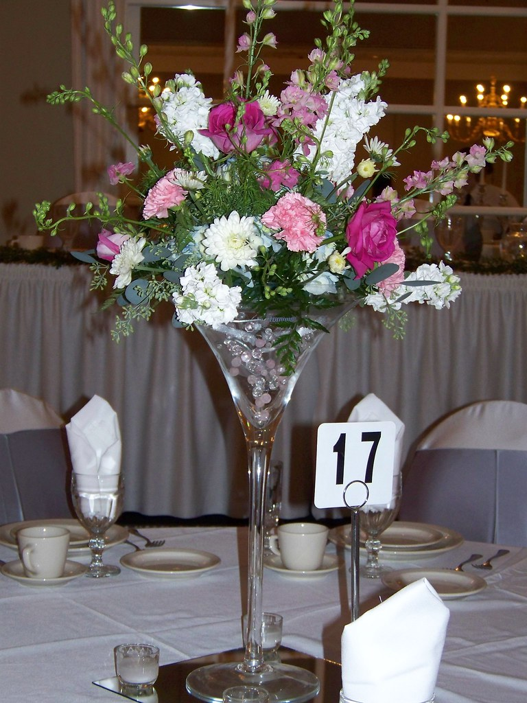 Martini glass centerpiece a beautiful and fun