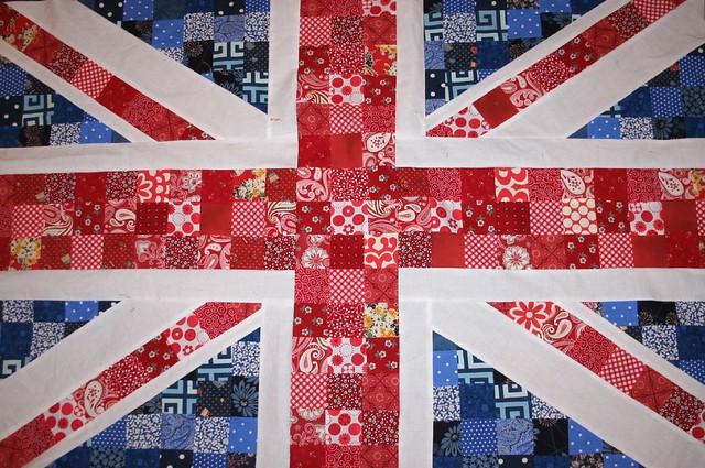 union jack 2   union jack quilt top in traditional colors ... : union jack quilt - Adamdwight.com