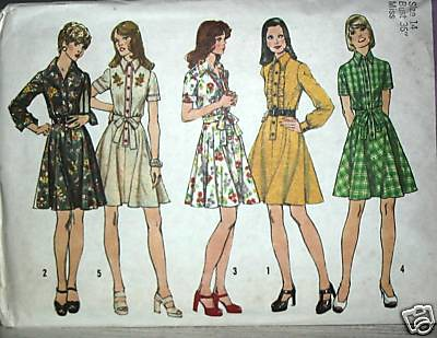 Vintage sewing pattern: 1970s shirt dress | Blogged here ...