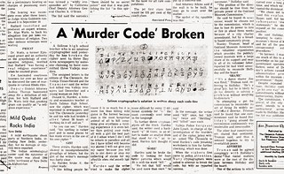 The Zodiac Killer's Code is Cracked (August 9, 1969) | by Nicole Gillam